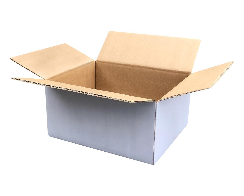 Verpackungs- und Versandkarton 304x217x150mm, 2-wellig, A4, weiß