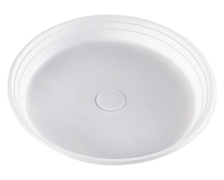 Menüteller rund PREMIUM 1 teilig, 22 cm,  Mikrowellentauglich, weiß, 100 Stk.