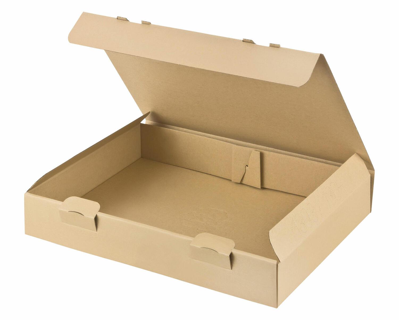 Maxibriefkarton Maximalmaß und Warensendung Versandkarton, 343x250x49mm, braun