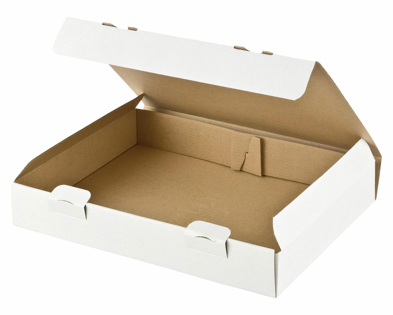 Maxibriefkarton und Warensendung Versandkarton, 235x155x46 für Din A5, weiß