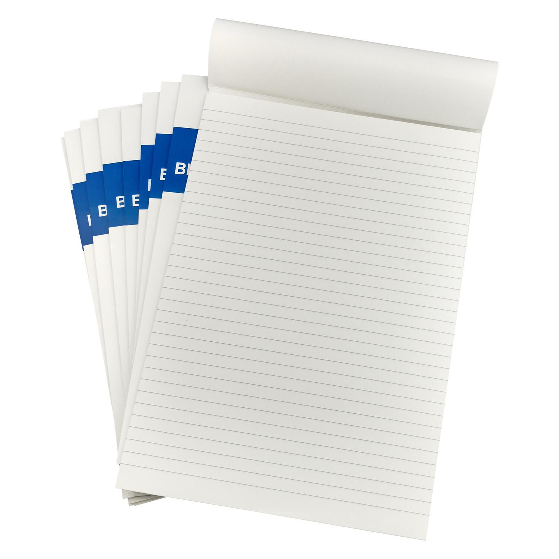 Schreibblock Schreibblöcke A4 liniert je 50 Blatt für Konferenzmappe, 10 Stk.