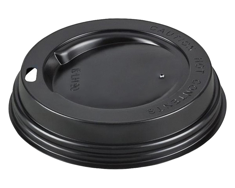 Domdeckel schwarz für Pappbecher - Coffee to go, 300/400ml, 90mm Ø, 100 Stk.
