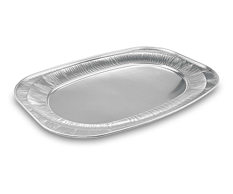 Alu-Catering-Platte, Aluminium-Partyplatte, Servierplatte 545 x 360 mm,  5 Stk.
