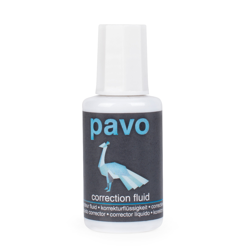 PAVO Korrekturflüssigkeit mit Pinsel schnelltrocknend 20 ml