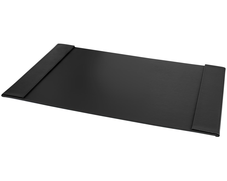 PAVO edle Schreibtischunterlage 70x45cm Seitenränder klappbar Kunstleder schwarz