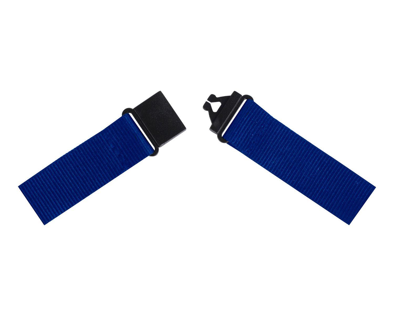 Textilband für Ausweishalter Schlüsselband Lanyard Schlüsselbänder blau, 10 Stk.