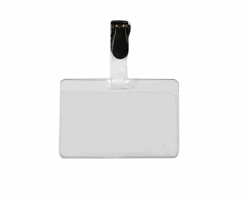 Kartenhalter Ausweishülle Namensschild 60x90/50x86mm mit Clip + Einleger 50 Stk.