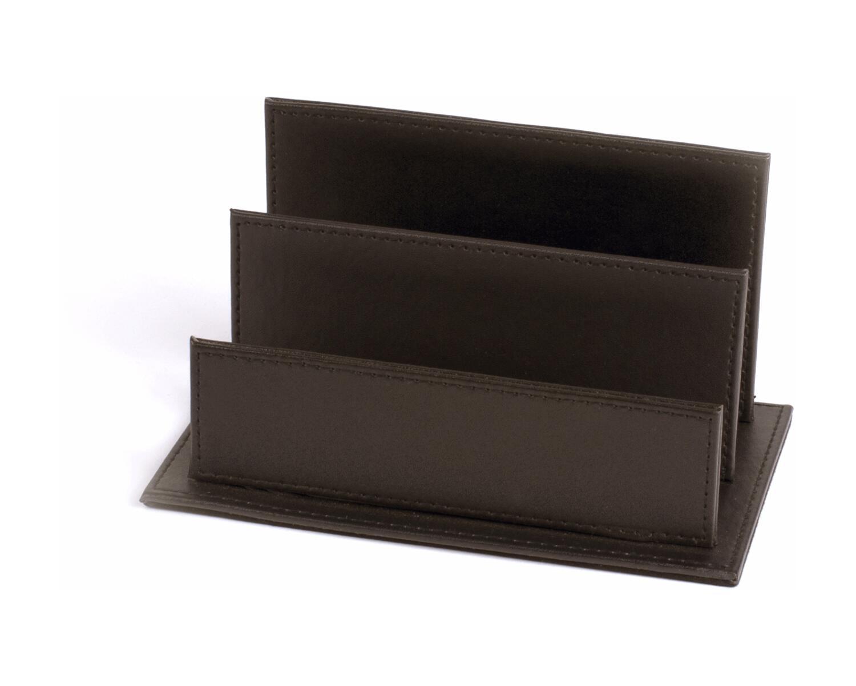 PAVO Premium Büroset Schreibtischset braun Kunstleder 70x45cm schick 4-teilig