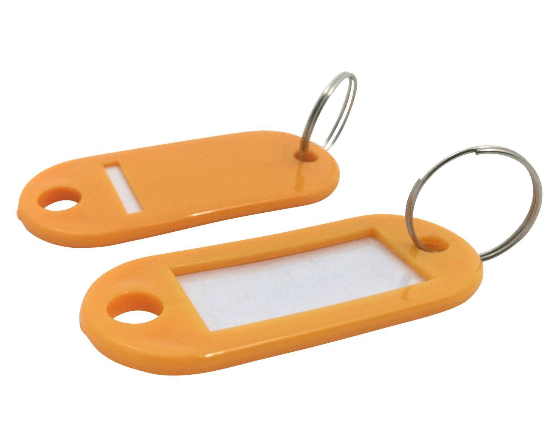 Schlüsselanhänger mit Schlüsselring und Einleger ORANGE