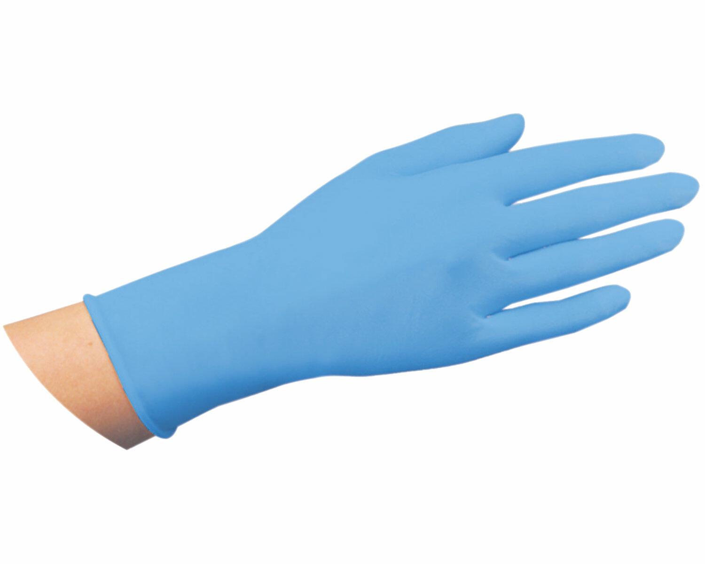 Latex Einweghandschuhe blau mit Gripstruktur puderfrei Größe S, 100 Stk.