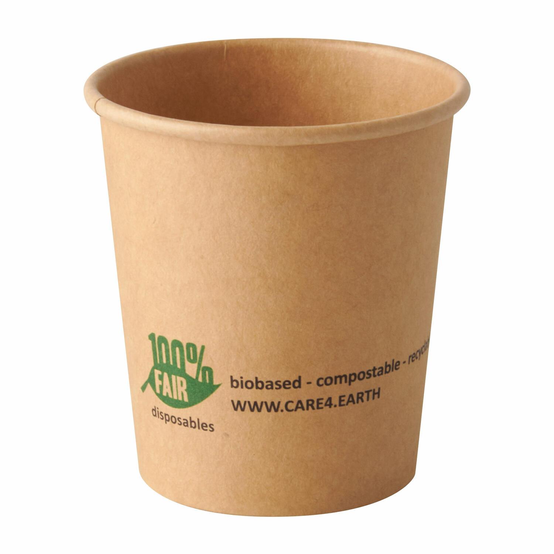 BIO Portionsbecher aus Pappe pure 120 ml braun 100% Fair, 50 Stk.