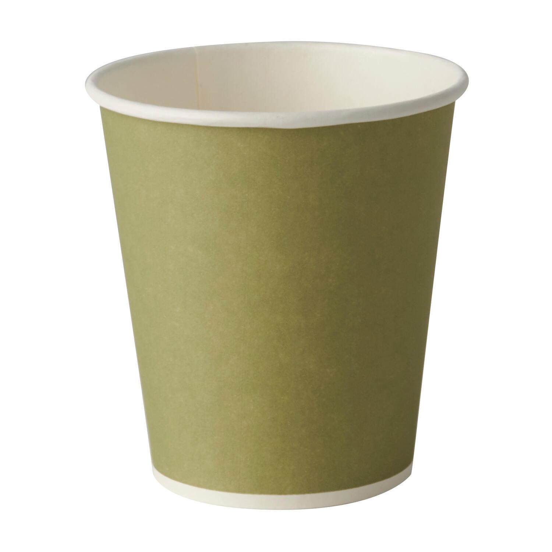 BIO Trinkbecher Whiskeybecher aus Pappe 10 cl - 100 ml dunkelgrün, 20 Stk.