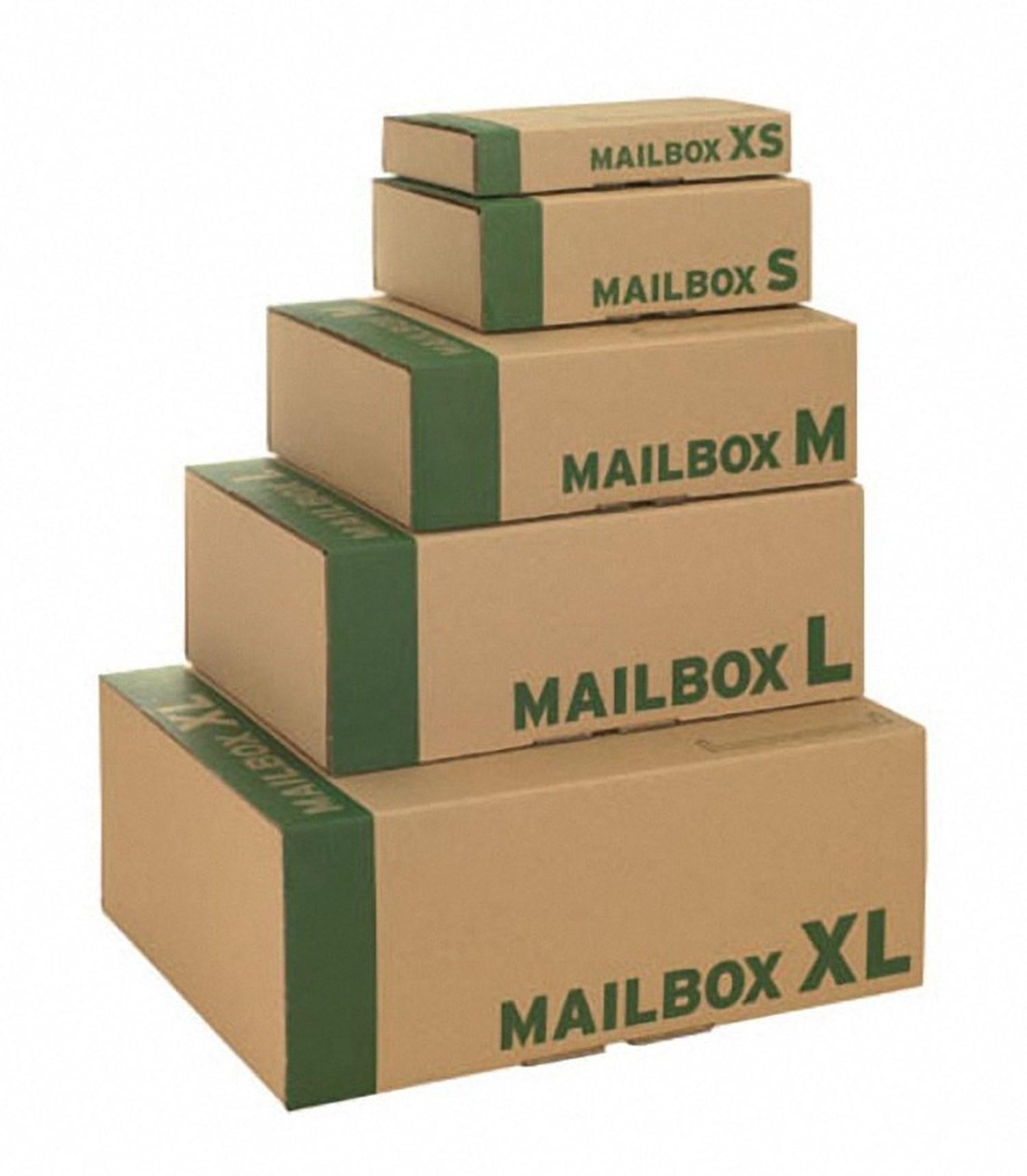 Post-Versandkarton MAILBOX  S, mit Steckverschluss, 250x176x79mm, braun, für B5
