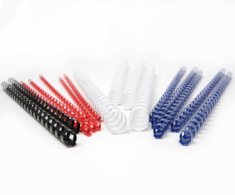 Plastikbinderücken 22mm, bis max. 210 Blatt, Rot, 10 Stk.