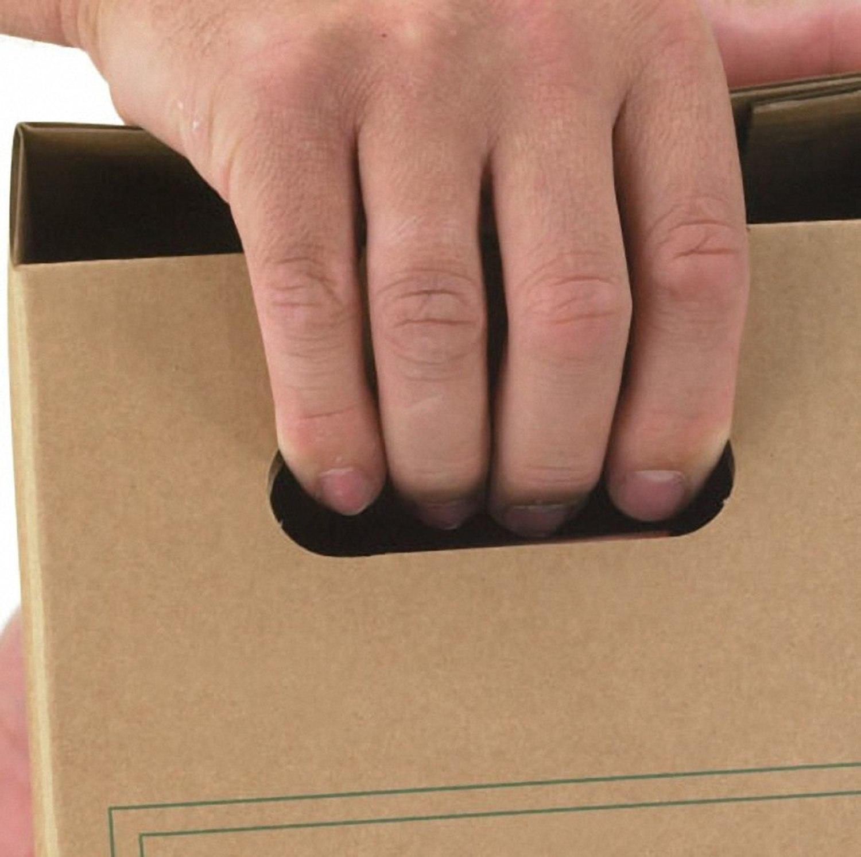 ARCHIV-TRANSPORTBOX zum Transportieren von Hängemappen, 340x365x285mm, braun