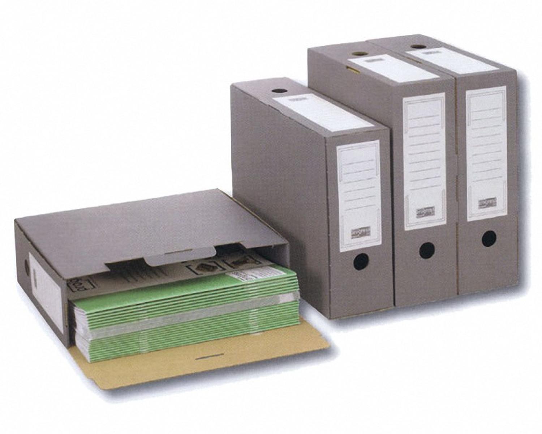 ARCHIV-ABLAGEBOX zum Aufbewahren von Ordnerinhalten, 315x265x100mm, anthrazit