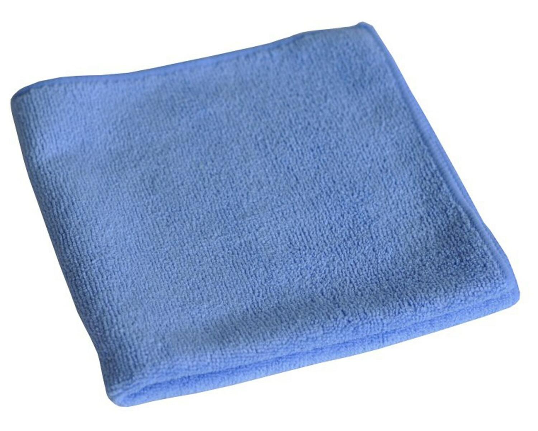 Mikrofasertücher 40x40cm blau, waschbar stark, Vorteilspackung, 20 Stk.