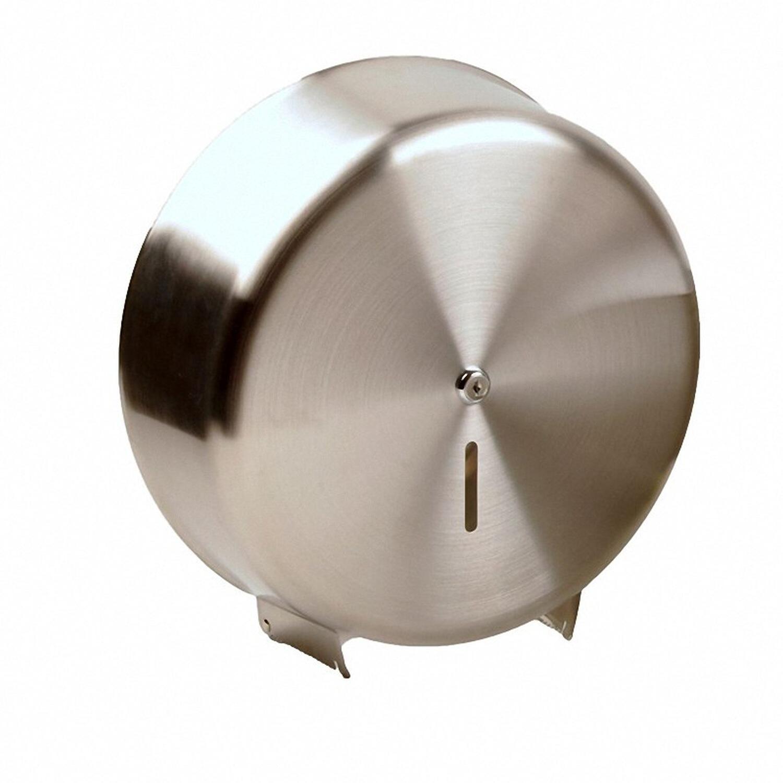Toilettenpapier-Spender für Jumborollen bis 32 cm Ø absperrbar silber Edelstahl