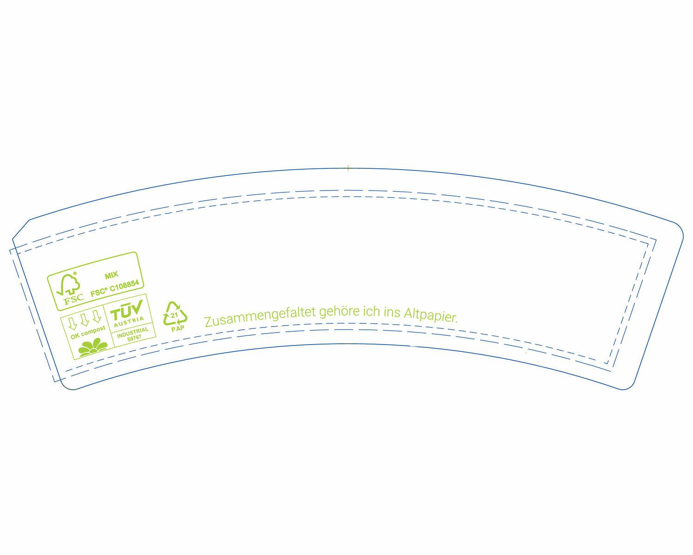 Bio Eisbecher Pappbecher 100% ohne Kunststoff 340ml Ø101 Höhe 63mm weiß, 50 Stk.