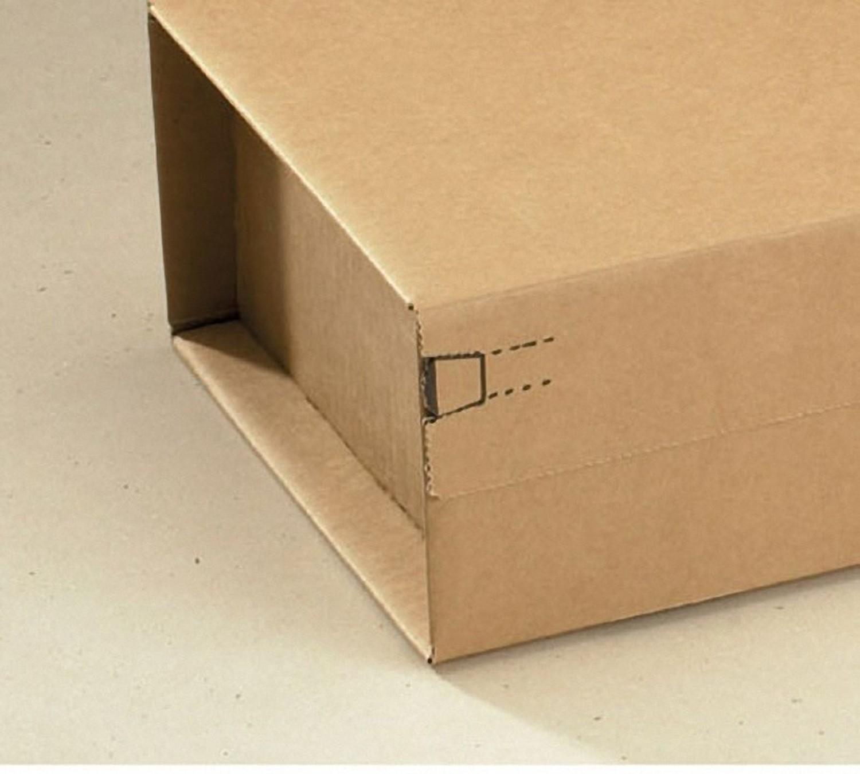 Post-Versandkarton PACKBOX-X SK-Verschluss Aufreißfaden 460x305x160mm braun, A3+