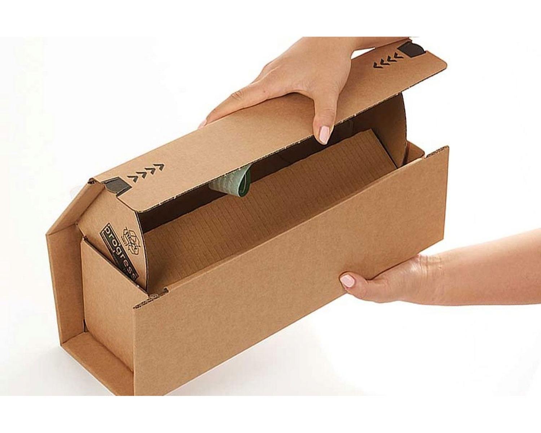 Weinversandkarton Weinbox Selbstklebeverschluss DHL zertifiziert 316x112x115mm