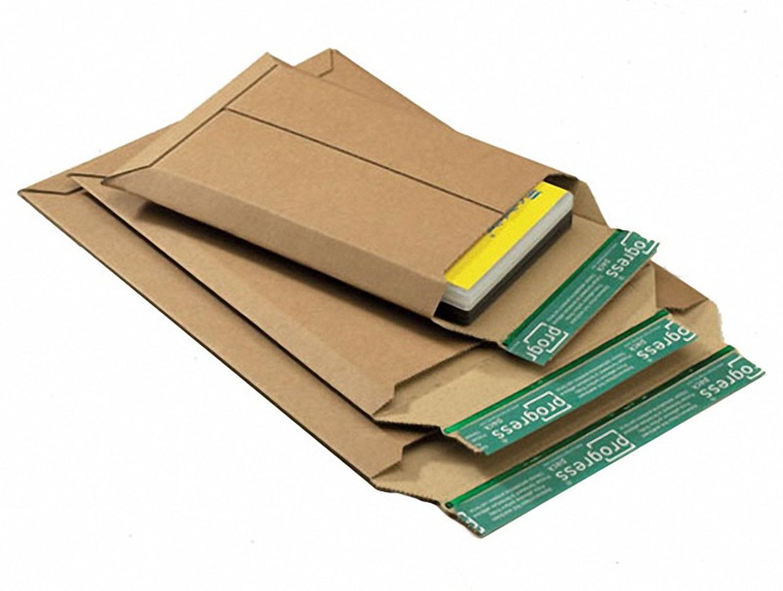 Wellpappe-Versandtasche W01.11, 740x530x -55mm stabil für Kalenderversand braun