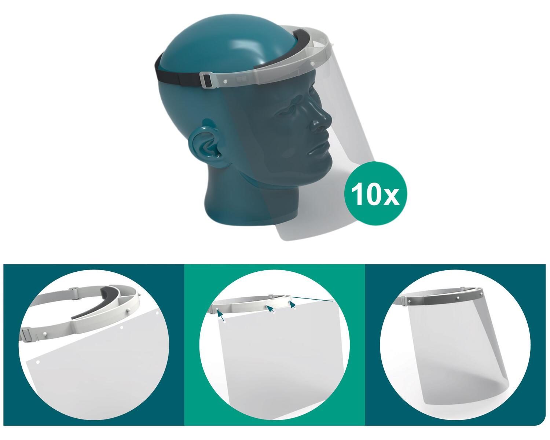 RENZ Ersatz Gesichtsschutzschilde, 10 Stk.