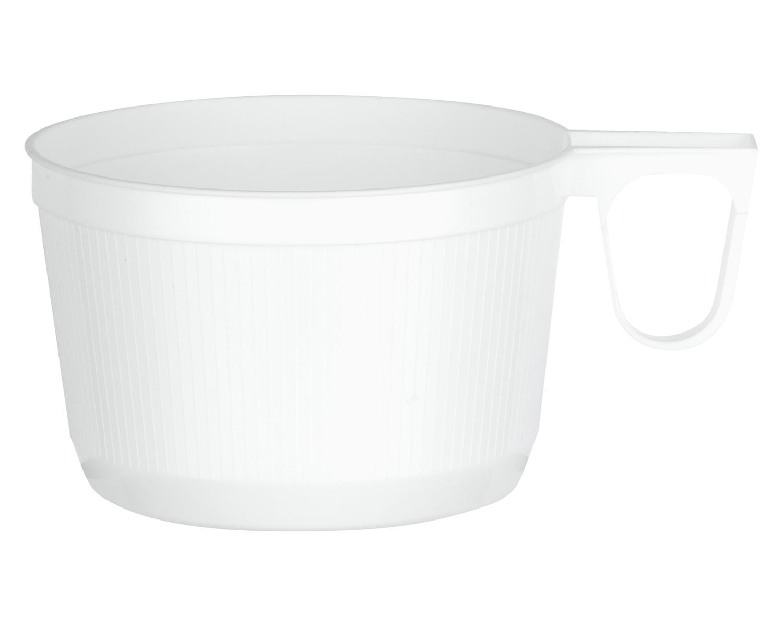 Einweg-Henkeltasse Kaffeetasse 0,16l | 160ml weiß PS, 60 Stk.