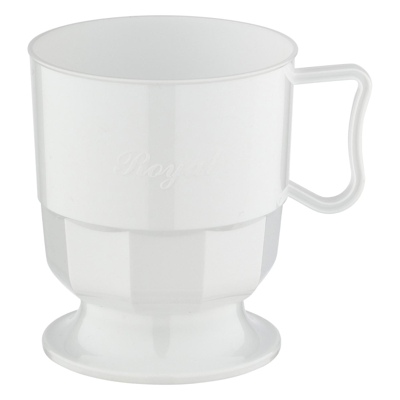 Royal Cup Henkeltasse Kaffeetasse 0,2l   200ml weiß PS, 12 Stk.