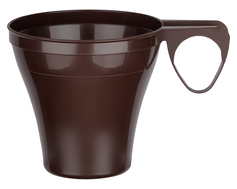 Premium Espressotasse Henkeltasse Kaffeetasse 8cl | 80ml braun PS, 40 Stk.