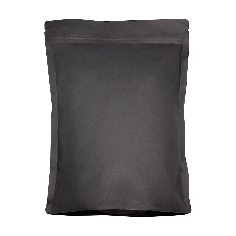 Standbodenbeutel Kraftpapier schwarz 160x230x90mm 250g, 100 Stk.