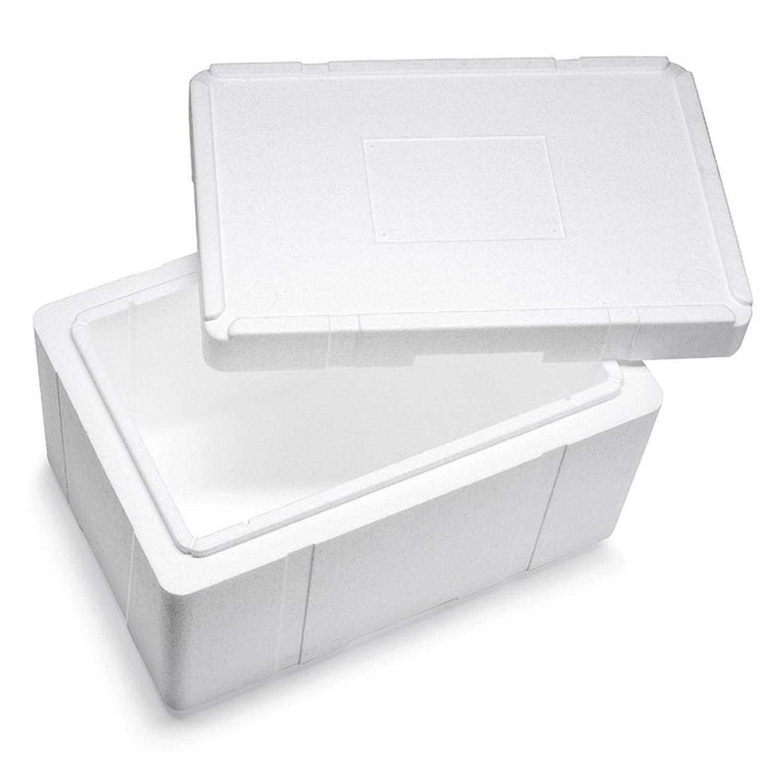 Isolierbox mit Deckel aus Styropor EPS, 596 x 396 x 363 mm, 37,5 Liter