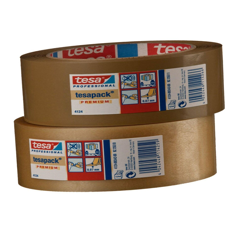 TESA Klebeband tesapack 4124, TOP-PVC, 38mm x 66m, braun