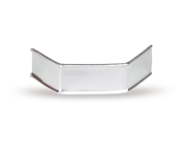 U-Clipse für alle Arten Beutel, 40 mm, Silber, Papier, 1000 Stk.