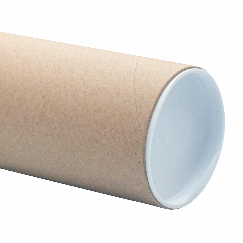 Einsteckdeckel Ersatzdeckel für Versandrohre 63,5mm rund, weiß
