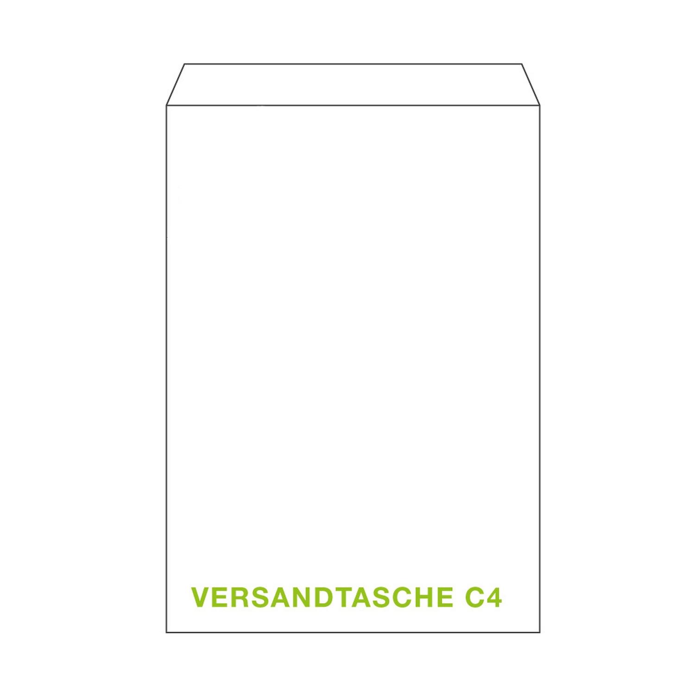 ÖKI Versandtasche C4T 229x324mm weiß, 90 gr. Haftstreifen, 50 Stk.