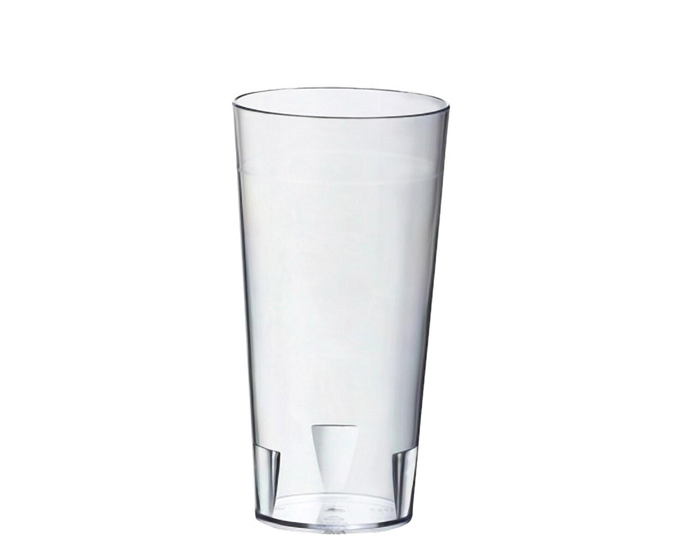 Mehrweg Trinkbecher Trinkglas 250ml aus SAN glasklar mit Füllstrich, 10 Stk.