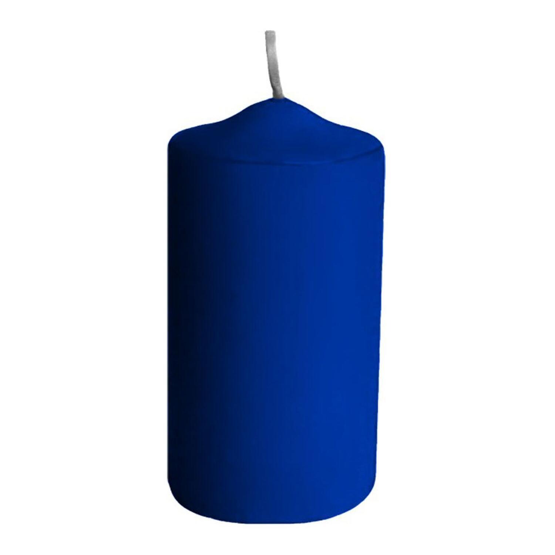 Stumpenkerzen Ø 40 x 80 mm, 10 Stunden Brenndauer, dunkelblau, 4 Stk.
