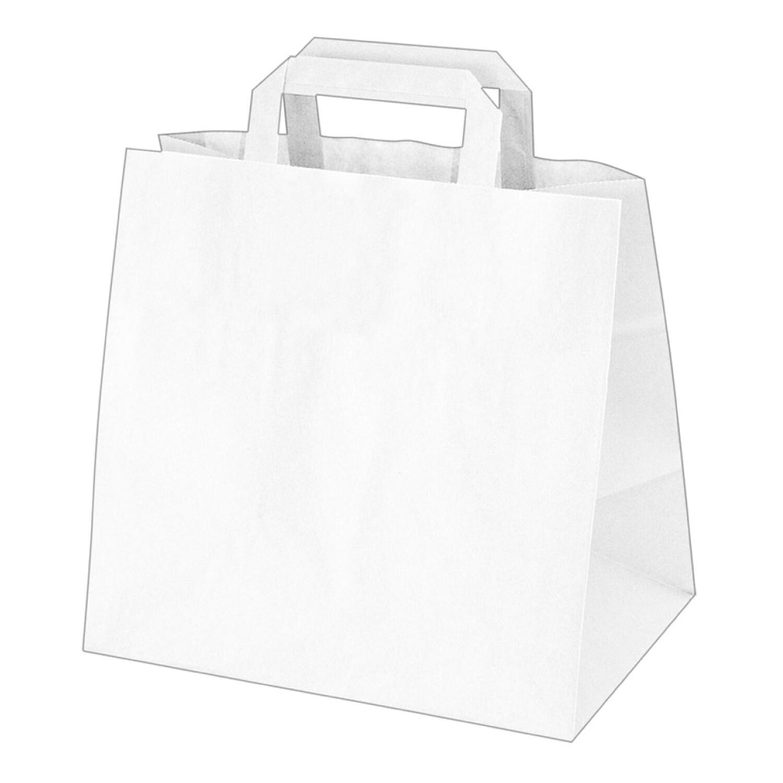 GASTRO Papiertragetaschen 33 x 32 x 21 cm mit EAN-Code weiß, 250 Stk.