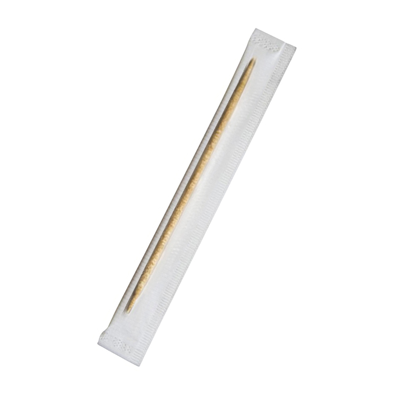 Holz-Zahnstocher hygienisch einzeln in Cellophan gehüllt 65mm, 1000 Stk.