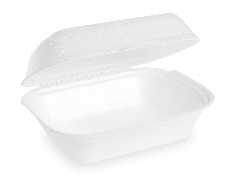 Menübox Lunch-Box weiß 185x133x75 mm, EPS, geschäumt, einteilig, 125 Stk.