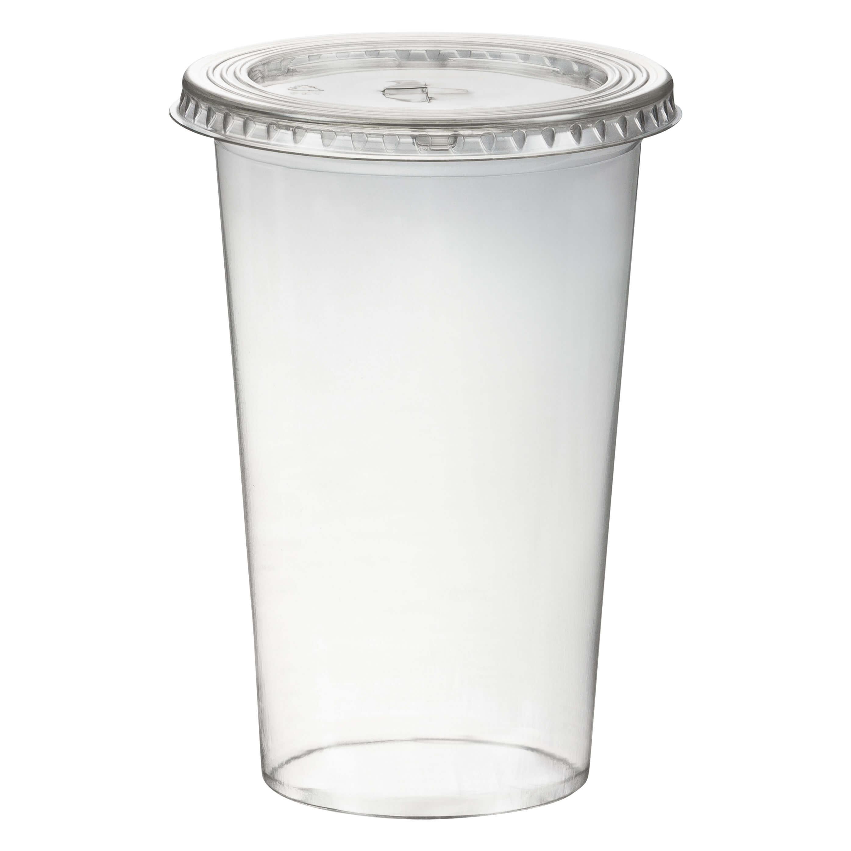 Smoothiesbecher inkl. Deckel mit Schlitz 400 ml, Ø 95mm, PET, glasklar, 50 Stk.