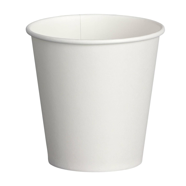 Heiß- und Kaltgetränkebecher Pappbecher weiß 150ml 200ml, Ø 73mm, 50 Stk.