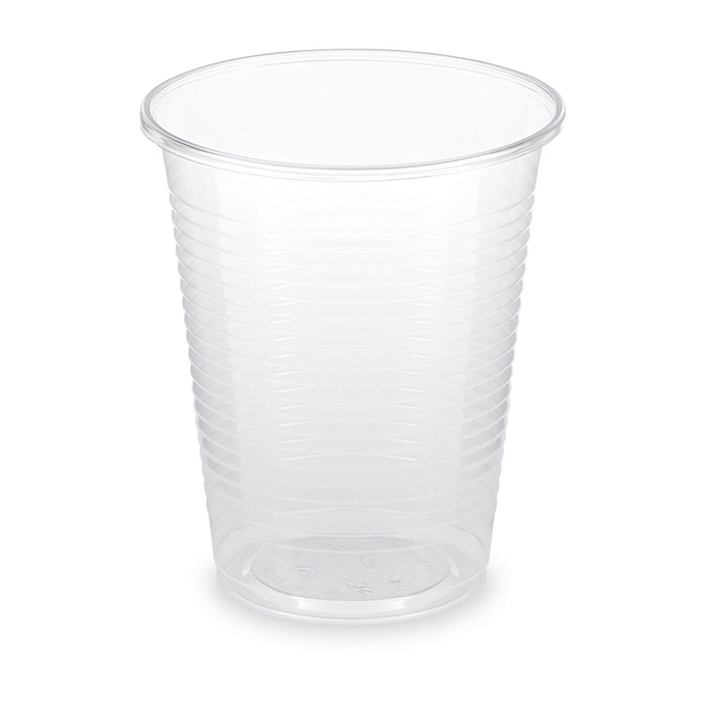 BIO Trinkbecher klar 180 ml 0,18 l aus Biokunststoff PLA  ø 70mm, 100 Stk.