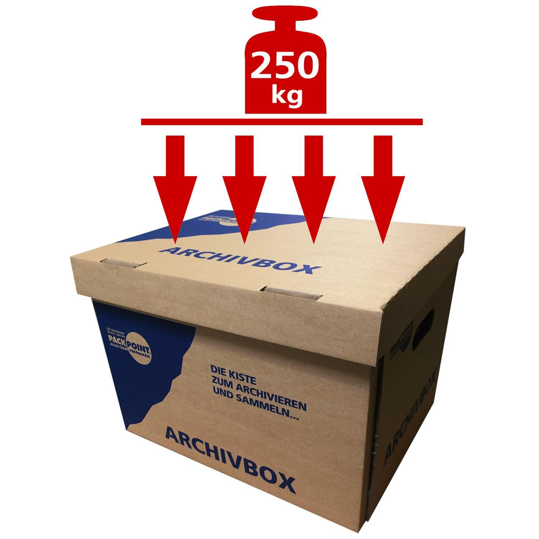 Archivbox Lagerbox 400x320x290mm extrem stabil, bis 250kg stapelbar