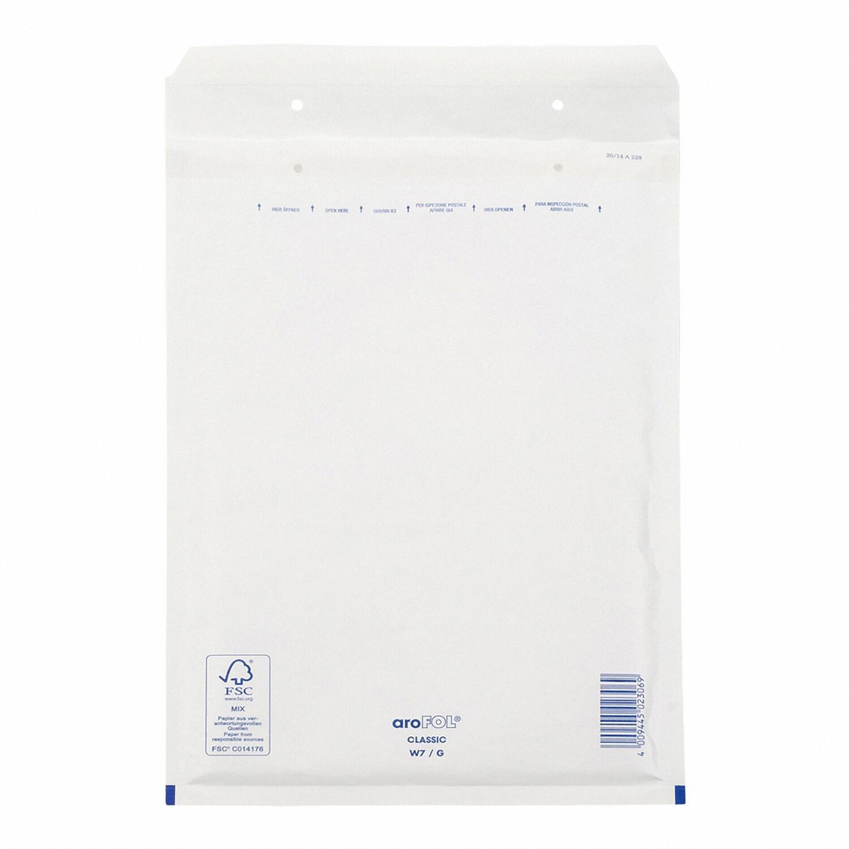 AROFOL CLASSIC Luftpolstertasche  7/G-17W, 230x340mm, für C4+, weiß