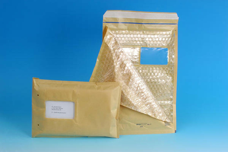 AROFOL WIN Luftpolstertasche  7/G-17, 230x340mm, mit Fenster, für C4+, braun