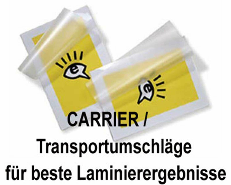 Carrier / Transportumschläge für Laminierfolien bis Größe A3, 10 Stk.