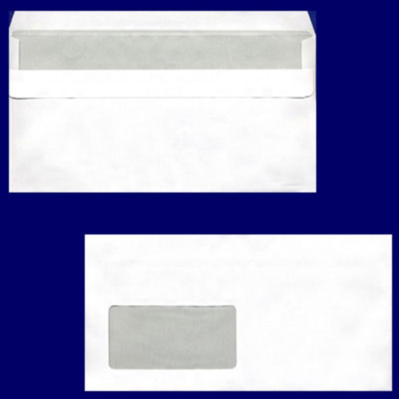 Briefumschlag DL-C5/6 220x110mm, 75gr, SK MF, weiß, 100 Stk.
