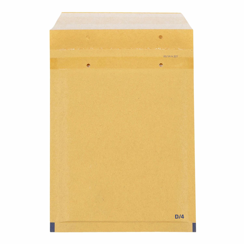 BUDGET Luftpolstertaschen 4/D-14 180x265mm passend für A5, braun, 100 Stk.